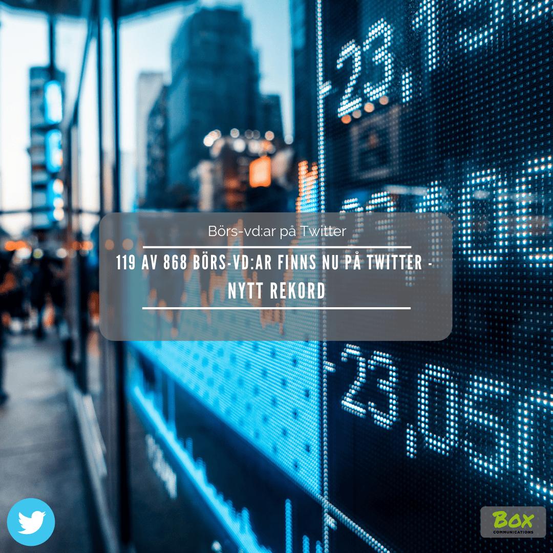 Börs-vd, Twitter, Investor relations 2.0